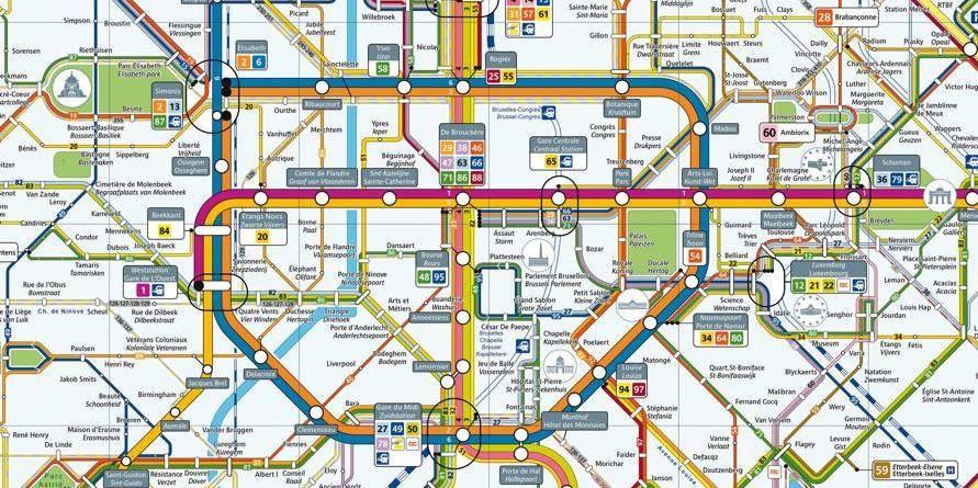 carte transports bruxelles