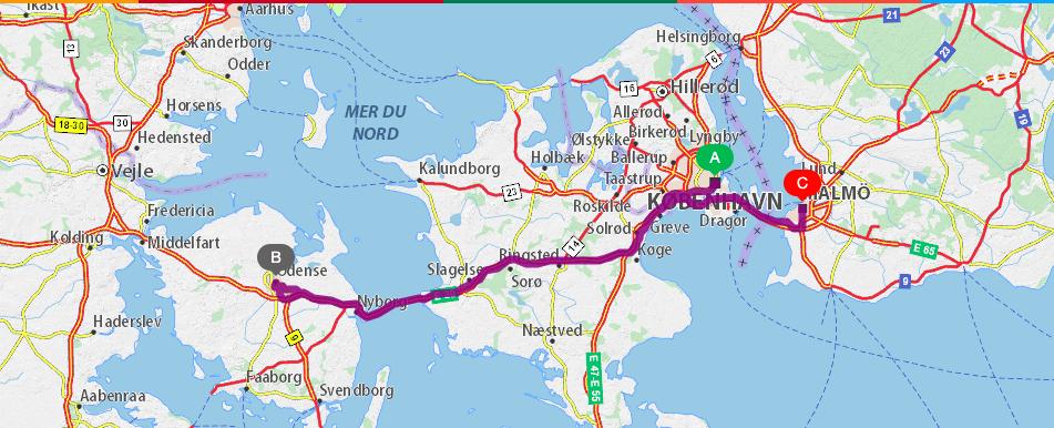itinéraire danemark